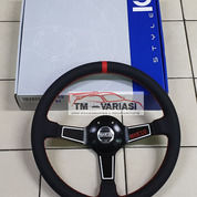 Stir Racing Import Leather Super Premium Quality 14 Inchi Hitam Benang Merah Model Garis Putih (25504755) di Kota Jakarta Pusat