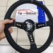 Stir Racing Import Leather Super Premium Quality 14 Inchi Hitam Benang Putih Model Circle (25506643) di Kota Jakarta Pusat