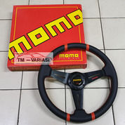 Stir Racing Import Kulit Momo 14 Inchi Datar Palang Hitam Double List Merah (25544567) di Kota Jakarta Pusat