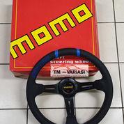 Stir Racing Import Kulit Momo Drifting 14 Inchi Palang Hitam Double List Biru (25545471) di Kota Jakarta Pusat