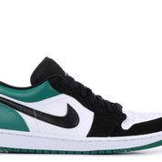 Jordan 1 Low White Black Mystic Green - US size 14