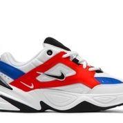 Nike M2K Tekno White Black Orange (W) - US size 9W