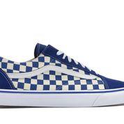 Vans Old Skool Blue Checkerboard - US size 8