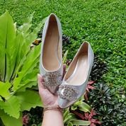 Sepatu Flat Silver Wanita Ukuran Kecil On Sale (25609231) di Kota Bandung