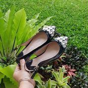 Sepatu Pesta Flat Hitam Wanita Import On Sale (25609279) di Kota Bandung