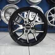 Velg Mobil Murah HYURA BOROKO 02 HSR Ring 15 Lebar 65 Inci Hitam Polish (25615071) di Kota Semarang