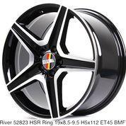 Velg Mercy Tipe RIVER 52823 HSR R19X85/95 H5X112 ET45 BMF (25640703) di Kota Depok