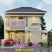 ON PROGRESS Rumah MEWAH Manyar Jaya Carport 2 Mobil, GRATIS TANDON+POMPA (25652475) di Kota Surabaya