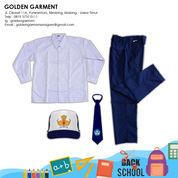 SET SERAGAM SEKOLAH SMP PUTIH BIRU LAKI-LAKI - GOLDEN GARMEN SERAGAM (25673367) di Kota Malang