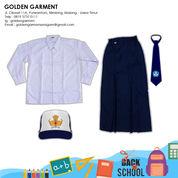 SET SERAGAM PUTIH BIRU PEREMPUAN PANJANG PANJANG - GOLDEN GARMEN SERAGAM (25673403) di Kota Malang