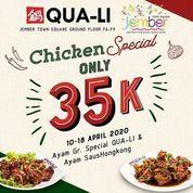 QUA-LI Jember Promo Paket Ayam Saus Hongkong/Ayam Goreng Sp.Qua-Li Rp 35.000,- (25673483) di Kab. Jember