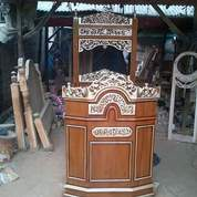 Mimbar Masjid Tiang Belakang Ukir Kayu Jati Tua (25678339) di Kota Medan