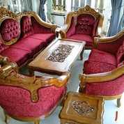 Sofa Tamu Ukir Kayu Jati Tua Mewah Berkualitas Kuat Awet (25678375) di Kota Palembang