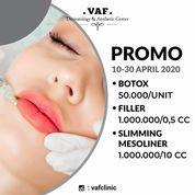 VAF Clinic Promo Botox, Filler, Slimming Mesoliner April 2020 (25690431) di Kab. Sidoarjo