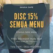 Shuga Cafe Diskon 15% ALL MENU + FREE DELIVERY max 5km (25721463) di Kab. Sidoarjo