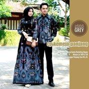 Gamis Couple Baju Batik Couple Sarimbit - Abu-Abu Blue (25722835) di Kota Jakarta Pusat