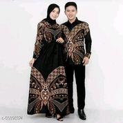 Gamis Couple Baju Batik Couple Sarimbit Baju Batik Kondangan-Black (25723083) di Kota Jakarta Pusat