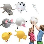 Animal Balloon Squeeze Inflatable Toys Funny Stress Mainan Balon Karakter Motif Lucu Aneka Warna (25745383) di Kota Surabaya