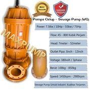 Pompa Celup Air Kotor 22Kw 6Inch 30Hp 3Phase Submersible Sewage Pump (25764271) di Kota Jakarta Utara