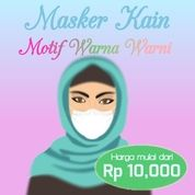 Masker Kain Motif Warna Warni (25921131) di Kota Jakarta Timur