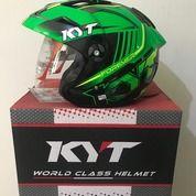 Helm KYT Forever Hitam Hijau Seri 2 Black Green Fluo (25943859) di Kab. Tangerang