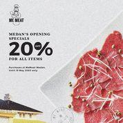 Me Meat Promo 20% OFF FOR ALL ORDERS AT MEMEAT-MEDAN! (26043587) di Kota Medan