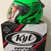 Helm KYT Galaxy Slide Super Fluo Edition Green Fluo Black Seri 1 Edisi (26051827) di Kab. Tangerang