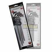 Kunci L Set Panjang 9 Pcs Mollar - Ball End Extra Long Hex Key (26075443) di Kota Magelang