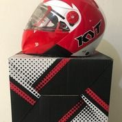 Helm KYT X-Rocket Putih Merah Retro Clear White Red X Rocket (26075931) di Kab. Tangerang