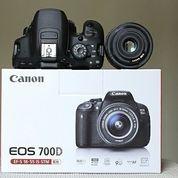Promo Kamera Canon Eos 700d Full Set+Lensa 18-55mm (26085519) di Kota Jakarta Pusat