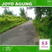 Tanah Poros Jalan Luas 2.020 Di Joyo Agung Dinoyo Kota Malang _ 269.20 (26086455) di Kota Malang