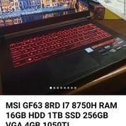 Msi Gf63, Pemakaian Kurang Dari 1 Taun, Garansi Masih Berlaku, Ram Sudah Upgrade 16 Gb,Minus Kotak (26092907) di Kab. Cilacap
