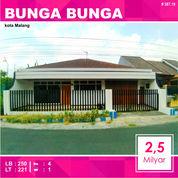Rumah 2 Lantai Luas 221 Di Bunga Bunga Sukarno Hatta Kota Malang _ 587.19 (26099703) di Kota Malang