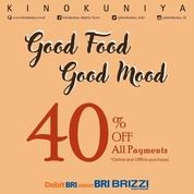 Kinokuya Good Food Good Mood 40% Off All Payments (26102199) di Kota Jakarta Selatan