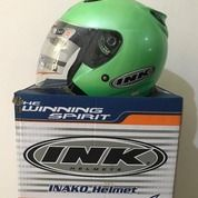 Helm INK Centro Hijau Jet Solid Clear Apple Green (26105387) di Kab. Tangerang