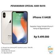 IPhone X 64GB Promo Spesial Hari Raya (26114059) di Kota Makassar