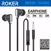 ROKER SUARA RK53K HANDSFREE EARPHONE HEADSET IN-EAR-EARPHONE (26136823) di Kota Surakarta