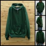Jaket Sweater Pria Hoodie Polos Green (26138695) di Kab. Jember