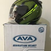 Helm AVA SS7 Hijau Hitam Spark Neon Green Black (26152419) di Kab. Tangerang