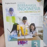 Buku Pelajaran Cerdas Berbahasa Indonesia 3 SMA/MA Kelas XII Oleh Engkos Kosasih Penerbit Erlangga (26211051) di Kab. Bandung