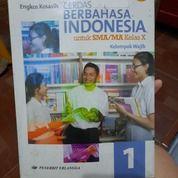 Buku Pelajaran Cerdas Berbahasa Indonesia 1 SMA/MA Kelas X Oleh Engkos Kosasih Penerbit Erlangga (26211147) di Kab. Bandung