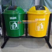 Tong Sampah Bulat Dua Warna (26254635) di Kab. Bekasi