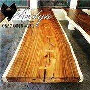 Mebel Meja Makan Kayu Trembesi Furniture Suar Code: X28L (26260243) di Kab. Purwakarta