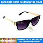 Sport Sunglasses Pria Golden Swing (26355467) di Kota Jakarta Timur
