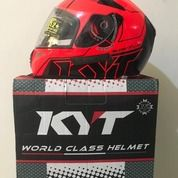 Helm KYT K2 Rider Super Fluo Edition Seri 1 Red Fluo Black Orange (26369247) di Kab. Tangerang