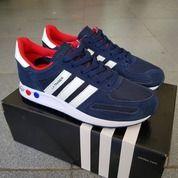 Sepatu Adidas LA Trainer Blue Navy Red (26374535) di Kota Bandung