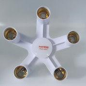 TaffLED Fitting E27 Cabang 5 Lampu Bohlam Studio - HUH-4851 - White (26392167) di Kota Surakarta