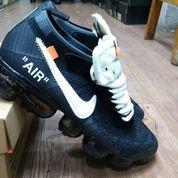 Sepatu Nike Air Vapormax Flyknit X Off White Black White (26406415) di Kota Bandung