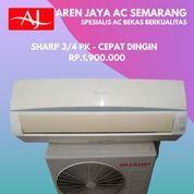 Promo AC Sharp 3/4 PK Dingin Bergaransi (26427015) di Kota Semarang