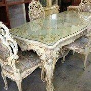 Meja Makan Ukir Marmer 4 Kursi (26438315) di Kota Tangerang